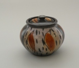 bird and feather jar Chch Exhib May16
