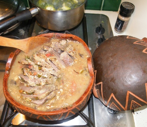 beef and mushroom gravy and brussies