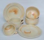 cream glaze with 'Mt Summer' clay slip decoration
