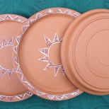 3 dishes footrings