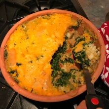 Lentil and veg potatoe top pie